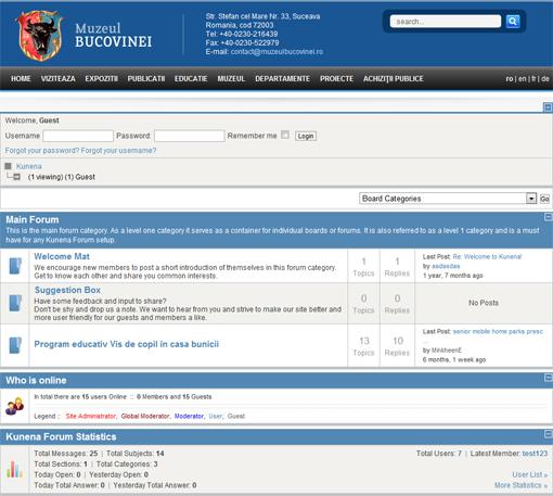 Forumul site-ului Muzeului Bucovinei este virusat