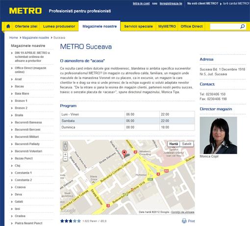 METRO nu știe unde se află pe hartă METRO